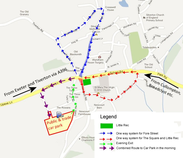Overall map of the Street Market